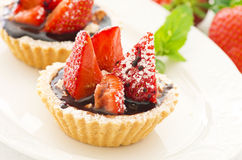 Dessert with strawberries Royalty Free Stock Photography