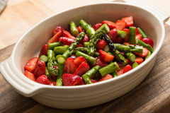 Dessert Strawberries Asparagus Royalty Free Stock Images