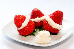 Dessert of strawberries Royalty Free Stock Photo