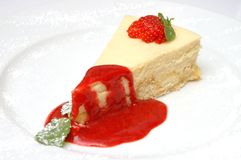 Dessert strawberry Royalty Free Stock Photography