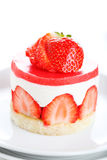 Dessert strawberry cake Stock Images