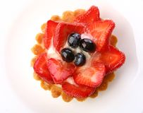 Dessert strawberry cake with blueberry Royalty Free Stock Photography