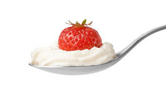 Dessert strawberry whip cream Stock Photo