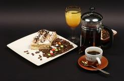 Dessert su una priorità bassa nera 3 Fotografia Stock