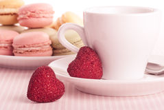 Dessert sul biglietto di S. Valentino immagini stock libere da diritti