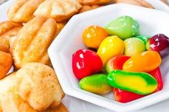 Dessert sur le paraboloïde blanc Images libres de droits