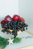 Dessert Sweet  apples and grapes Royalty Free Stock Photos