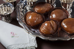 Dessert of sweet chestnuts Stock Photography