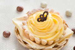 Dessert sweet cream cake chocolate candies Stock Photography