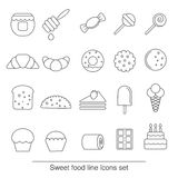 Dessert and sweet icon set Royalty Free Stock Images
