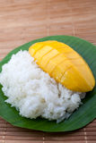Dessert sweet sticky rice with mango coconut milk. Thai dessert sweet sticky rice with mango coconut milk Royalty Free Stock Photography