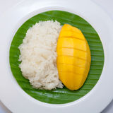 Dessert sweet sticky rice with mango coconut milk Royalty Free Stock Image