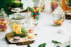 Dessert Sweet Tasty Yummy Colorful Jellies in Candy Bar On Table Royalty Free Stock Photo