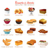 Dessert and Sweets Icons Stock Images