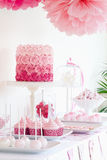 Dessert table Stock Images