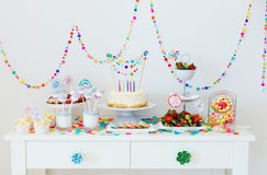 Dessert Table At Party Royalty Free Stock Photos
