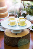 Dessert table with cakes. Decorated for a outdoor party Royalty Free Stock Image
