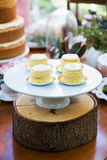 Dessert table with cakes. Decorated for a outdoor party Royalty Free Stock Images