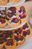 Dessert table. Candy bar Royalty Free Stock Photography