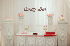 Dessert table and candy bar Royalty Free Stock Images