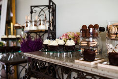 Dessert table Stock Image