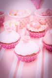 Dessert table at girls birthday party Stock Photos