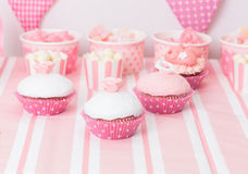 Dessert table at girls birthday party Royalty Free Stock Photography