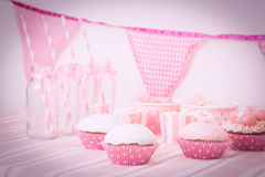 Dessert table at girls birthday party Stock Photography