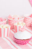 Dessert table at girls party Royalty Free Stock Photo