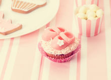Dessert table at girls party Royalty Free Stock Images