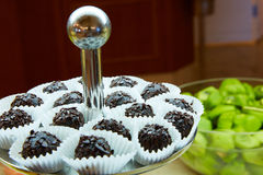 Dessert table for party. akes and sweetness. Shallow dof Royalty Free Stock Images