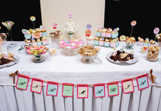 Dessert table at party. Ana Maria. Royalty Free Stock Images
