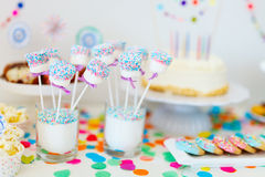 Dessert table at party Stock Photography