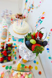 Dessert table at party Royalty Free Stock Images