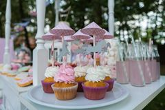Dessert table for a party. Stock Photography
