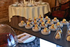 Dessert table setting Royalty Free Stock Photo