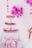 Dessert table with sweets for party Royalty Free Stock Images
