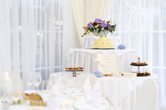 Dessert table for a wedding Stock Photography