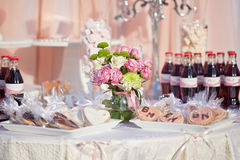 Dessert table for a wedding party Stock Image