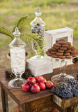 Dessert table for a wedding party. Outdoor Royalty Free Stock Photo
