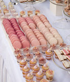Dessert table for a wedding party. Dessert sweets table for a wedding party Stock Photos