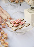 Dessert table for a wedding party. Dessert sweets table for a wedding party Stock Photography