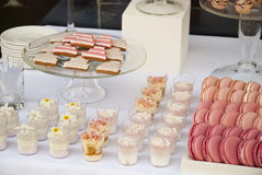 Dessert table for a wedding party. Dessert sweets table for a wedding party Stock Images