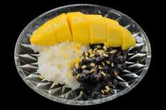 Dessert tailandese del mango del riso appiccicoso Fotografia Stock Libera da Diritti