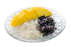 Dessert tailandese del mango del riso appiccicoso Fotografie Stock Libere da Diritti
