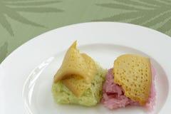 Dessert tailandese del riso appiccicoso Fotografia Stock