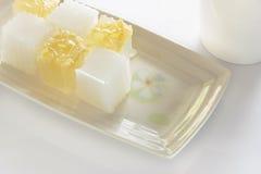 Dessert tailandese della gelatina Fotografie Stock Libere da Diritti