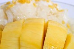 Dessert tailandese di stile, riso con i manghi Fotografia Stock Libera da Diritti