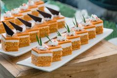 Dessert tailandese, dolci tailandesi del tè fotografia stock libera da diritti