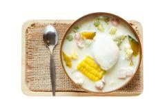 Dessert tailandese isolato fotografie stock